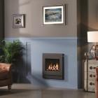 Gazco Logic Coal HE CF Designio2 Steel, High Efficiency (89%) Glass Fronted Gas Fire. NGLHE-CF