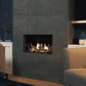 Gazco Riva2 600 Landscape Edge High Efficiency (75%) Conventional Chimney Gas Fire. GRV2600Lcf