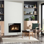 Gazco Riva2 600 Landscape Deignio 2 Steel High Efficiency (75%) Balanced Flue Gas Fire. GRV2600LBF