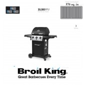 Broil King Gas BBQ Monarch 340 American Gas Barbeque LPG Bottled BBQ Gas 3 Gas Burner Barbeque with Side Table