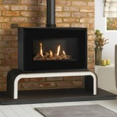 Gas Stove Gazco Studio 1 Freestanding, High Efficiency (68%) Freestanding Contemporary Gas Fire Stove. GSTCF