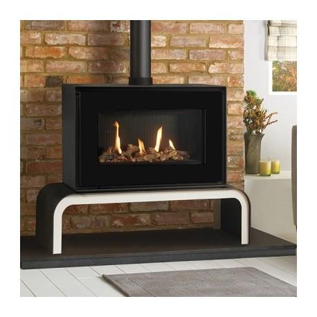 Gas Stove Gazco Studio 1 Freestanding, High Efficiency (68%) Freestanding Contemporary Gas Fire Stove. GSTCF
