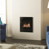 Gazco Logic Log HE Slider Controlled Arts2, High Efficiency (80%) Glass Fronted Gas Fire.