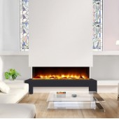 Panoramic Silver Log 3 Sided Electric Inset Fire Celsi Electriflame VR 1400
