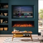 Gazco eRelfex 135R Skope 135R Electric Feature Wall Fire Built In Electric Log Effect Crystal Fire, 2kw thermo heater SKPi