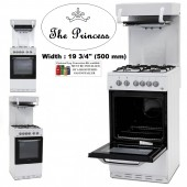 Gas Cooker Montpellier TGCMEL50W Eye Level Gas Cooker in White with Gas Grill.