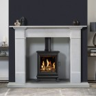 Free Standing Conventional Flue Gas Stove Gazco Sheraton 5 - With Thermostatic Programable Remote Control