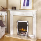 Electric Fire Dimplex Optiflame Chrome Horton HTN20SILCH Inset 2Kw Coal Effect.