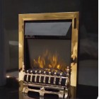 Remote Controlled Electric Fire in Brass - Hortonshire TGC1060 with 2 kilowatt heater.