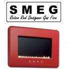 Smeg Retro Red Flueless Gas Fire Offer ,Next Day Delivery Flueless Wall Mounted SMEG Gas fire.