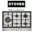 Stoves STGHU75 5-Ring Stainless Steel Gas Hob.