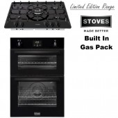 Gas Oven TGCSTBI900G Double Cavity Built In Gas Oven With Electric Grill In Black