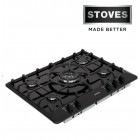 Stoves Gas Hob 5 Burner Gas Hob in Black - SGH700blk