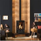 3 Sided Gas Stove Gazco Gas Vogue Midi T & Log Bench Balanced Flue, High Efficiency (80%) 3 Sided Gas Stove.