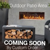 Faber Rustic Mood Freestanding Outdoor Gas Fire