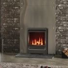 Gazco Logic HE CF Coal Gas Fire with Beat Inset Stove Front