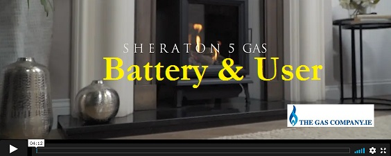 The NEW GAZCO SHERATON 5 Gas Log Stove with Thermostatic Programmable TESC Remote Control - How to Change Batteries