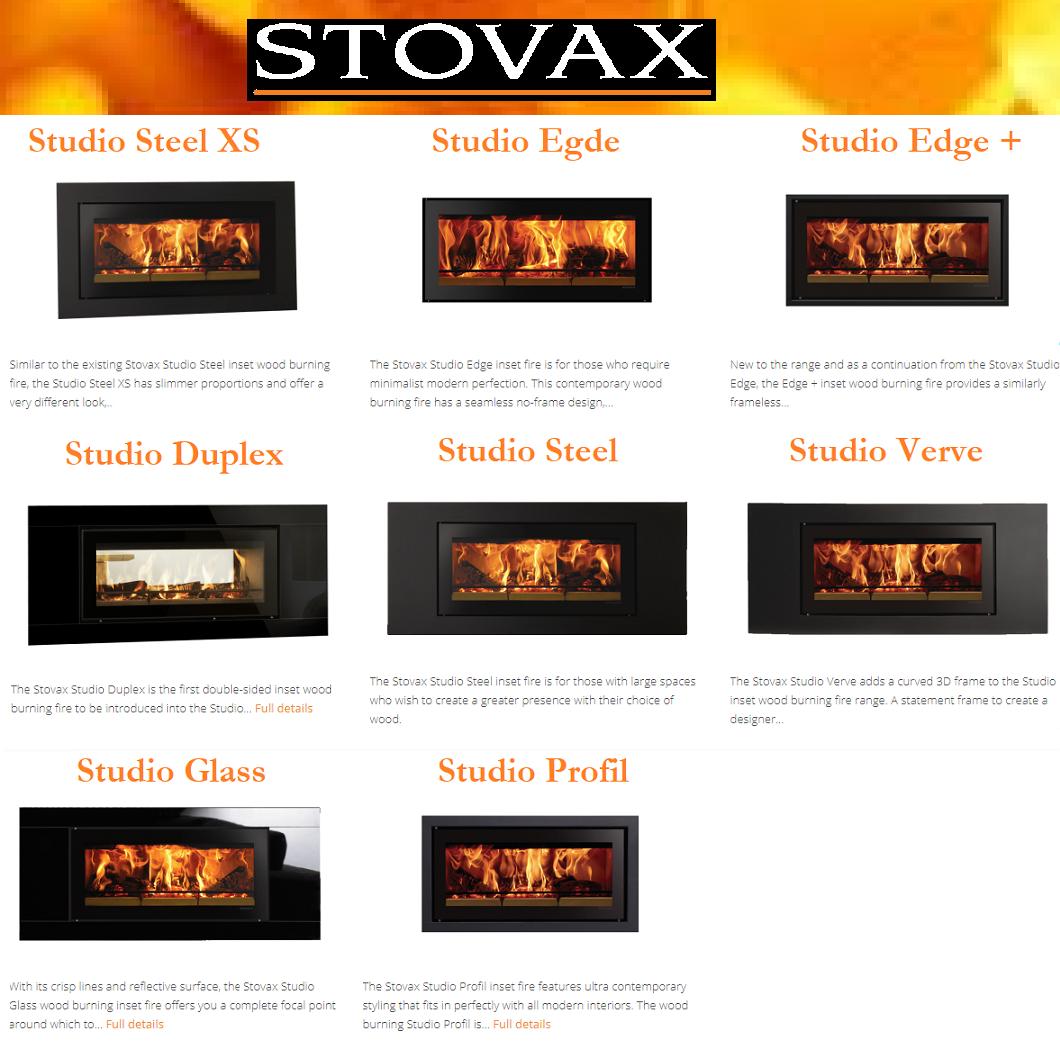 STOVAX Riva Studio Frame Options by TheGasCompany.ie