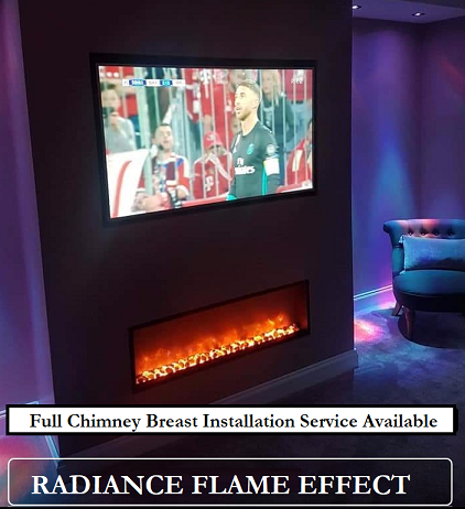 RADIANCE ELECTRIC FIREPLACE BREAST INSTALLATION