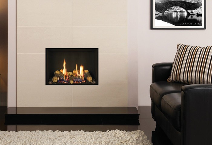 From Just €1949 - The Gazco Riva 2 500 Edge modern hole in the wall gas fire by TheGasCompany.ie