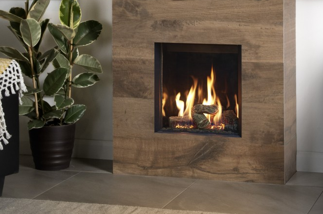 From Just €1559 - The Gazco Riva 2 400 Edge modern hole in the wall gas fire by TheGasCompany.ie