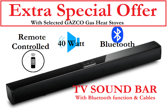 FREE Bluetooth & TV Sound Bar Offer by TheGasompany.ie