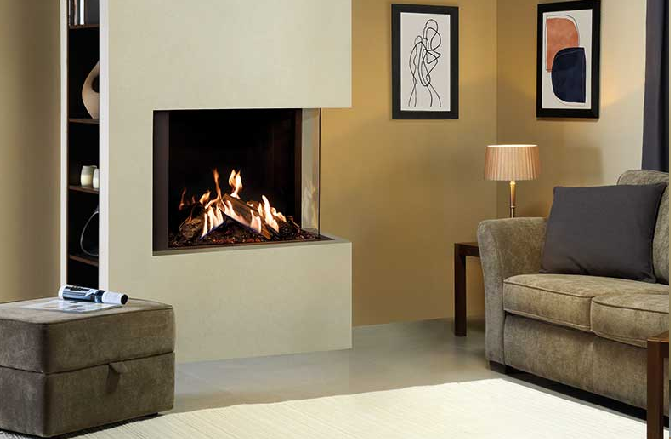 Gazco Reflex 2 Sided Corner Gas Fire