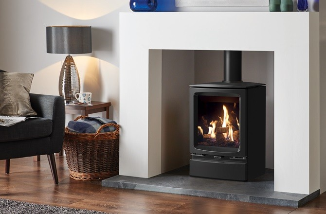 The NEW Gazco Vogue Gas Stove - No Chimney ! No Problem !